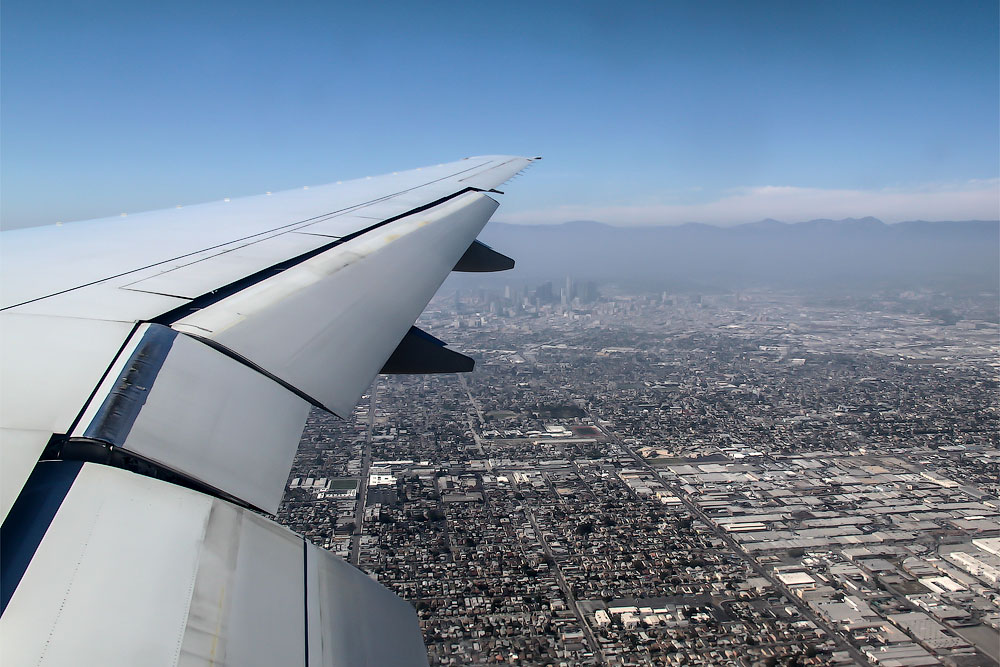 Los Angeles under wings