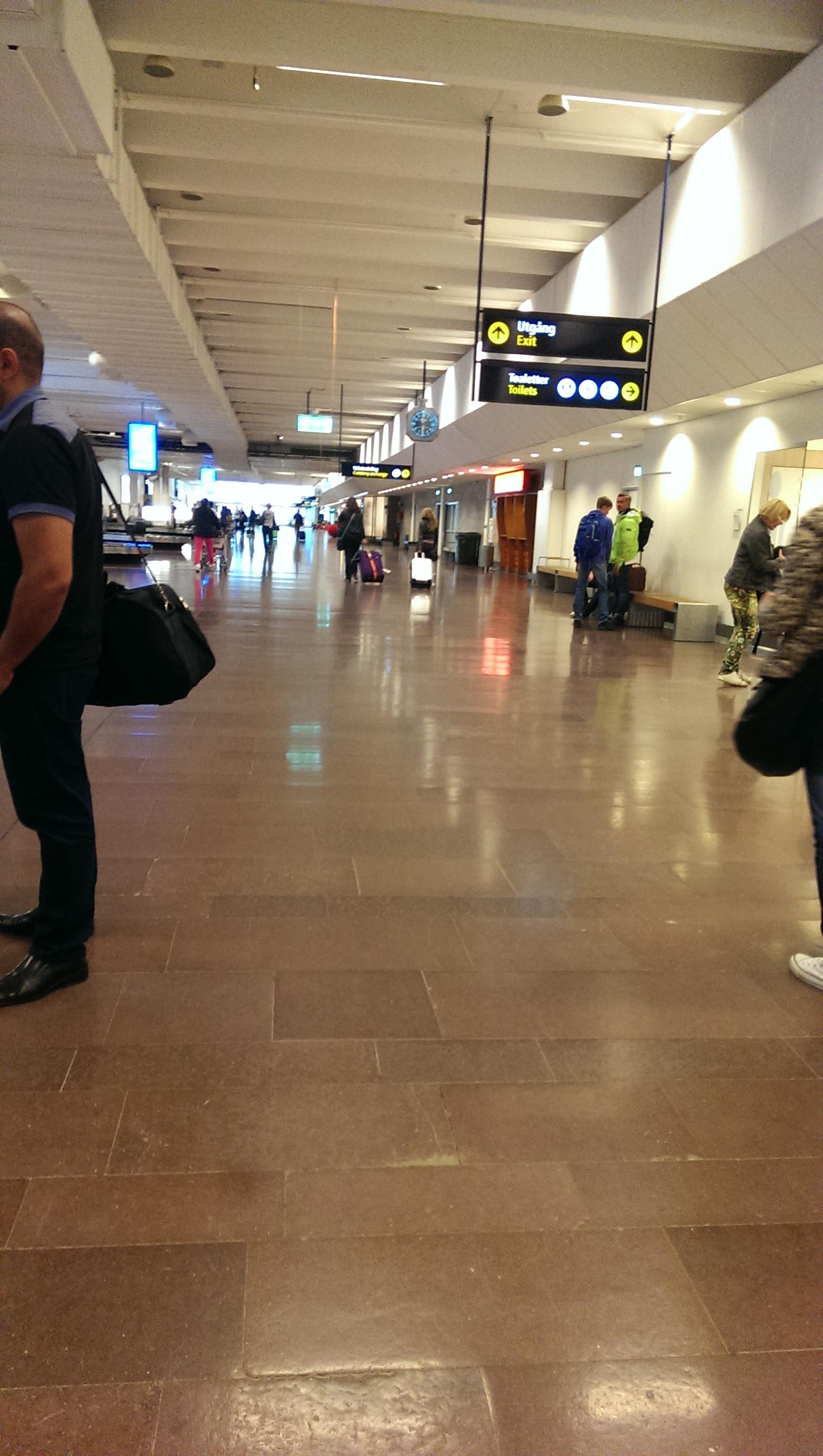 Зона выдачи багажа в аэропорту Арланда