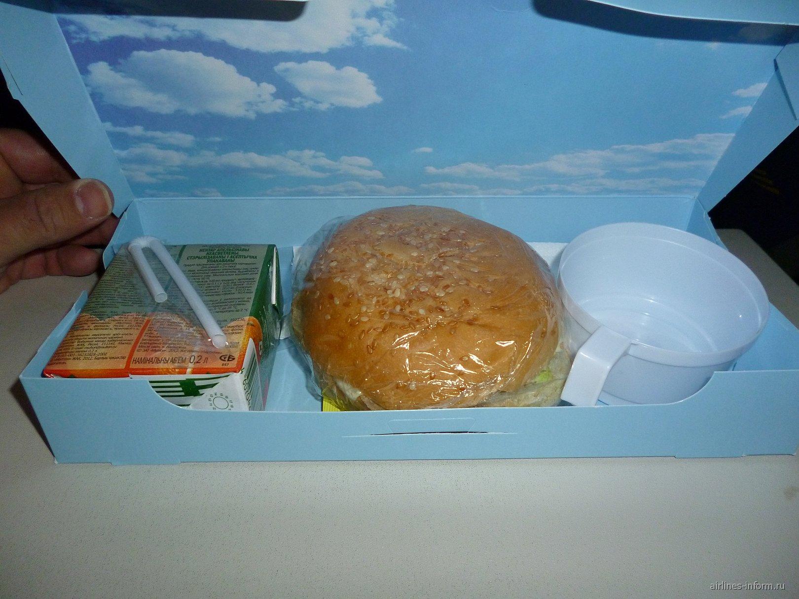 Питание на рейсе авиакомпании Владивосток Авиа Хабаровск-Владивосток