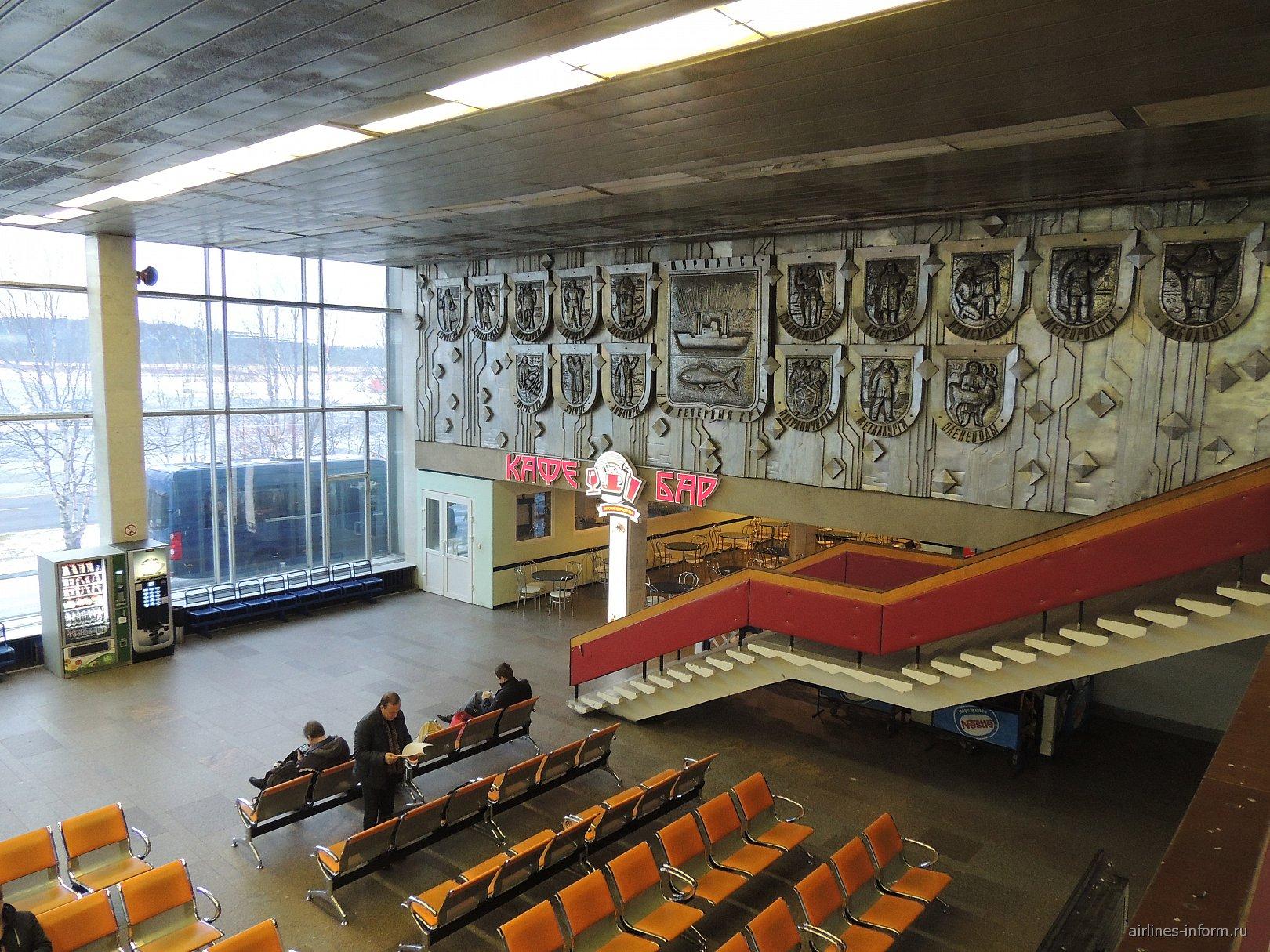 В чистой зоне внутренних вылетов аэропорта Мурманск