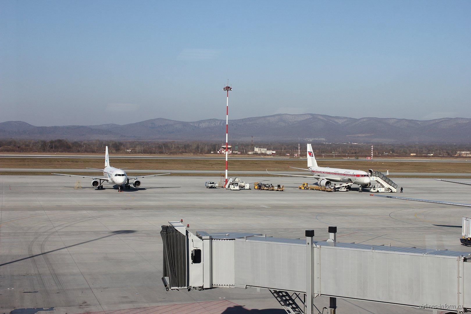Перрон аэропорта Кневичи во Владивостоке