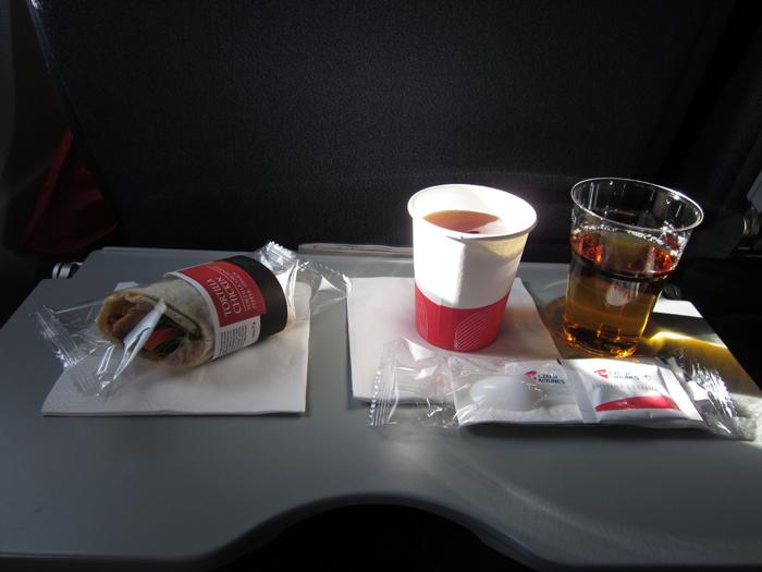 Питание на рейсе Прага-Париж