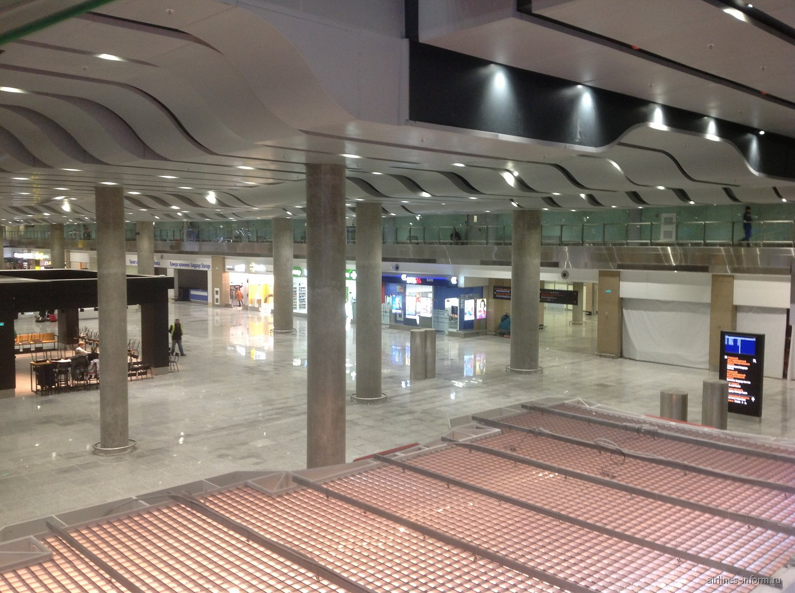 В новом аэровокзале аэропорта Пулково
