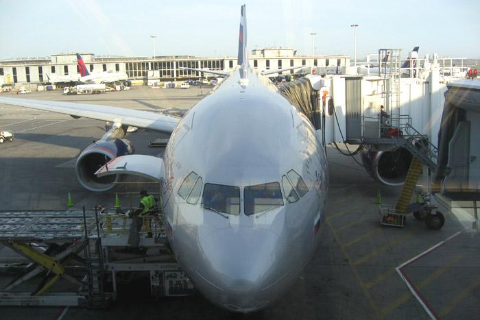 Airbus A330-300 Аэрофлота в аэропорту Нью-Йорка