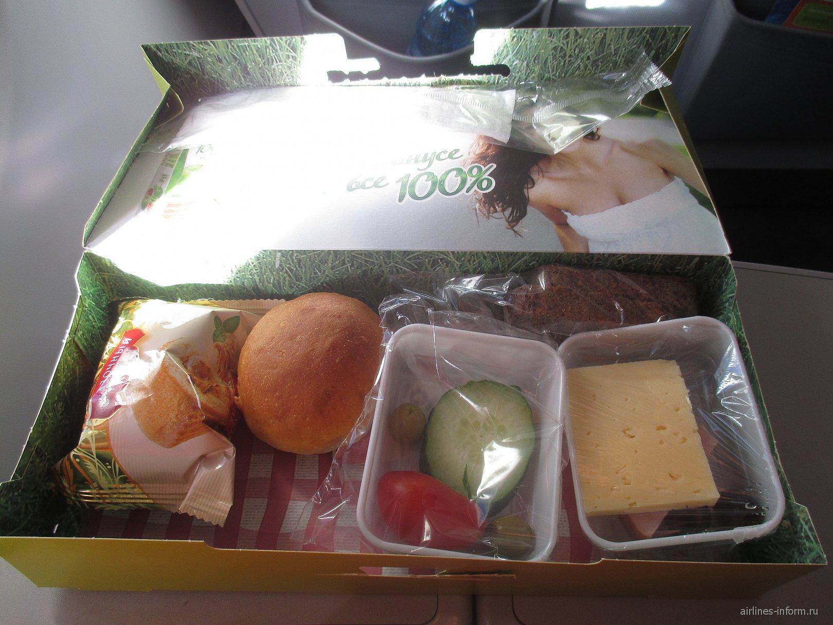 Питание на рейсе Чита-Москва авиакомпании S7 Airlines