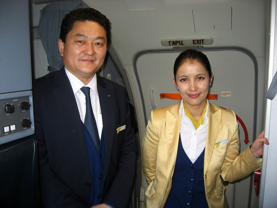 Cabin attendants of Mongolian Airlines