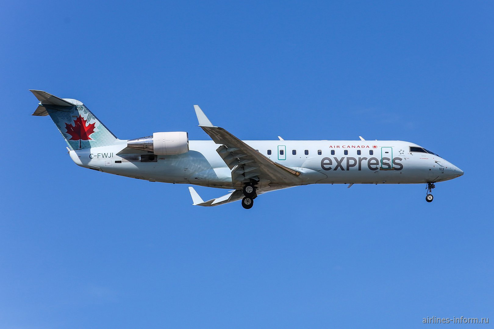 Bombardier CRJ-100ER C-FWJI авиакомпании Air Georgian