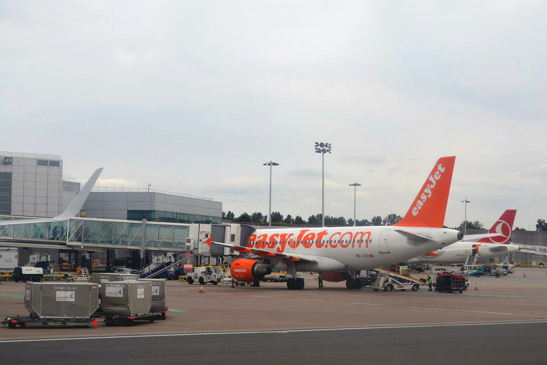 Airbus A319 авиакомпании easyJet в аэропорту Лондон Гатвик