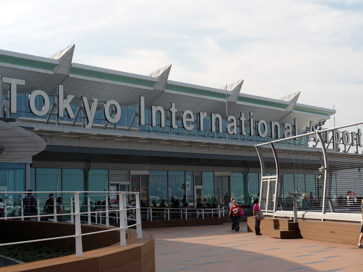 На смотровой площадке аэропорта Токио Ханеда