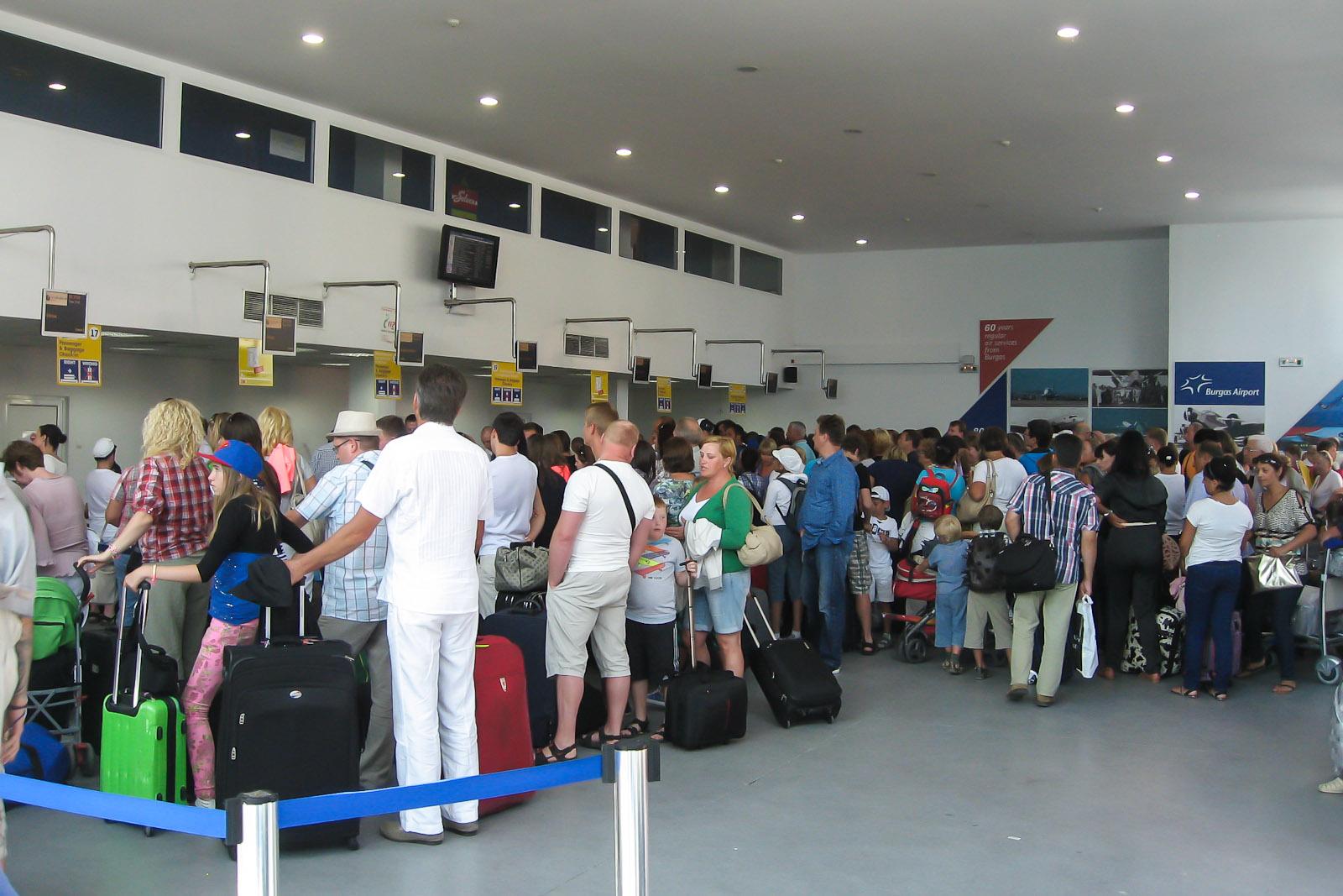 В аэропорту Бургаса