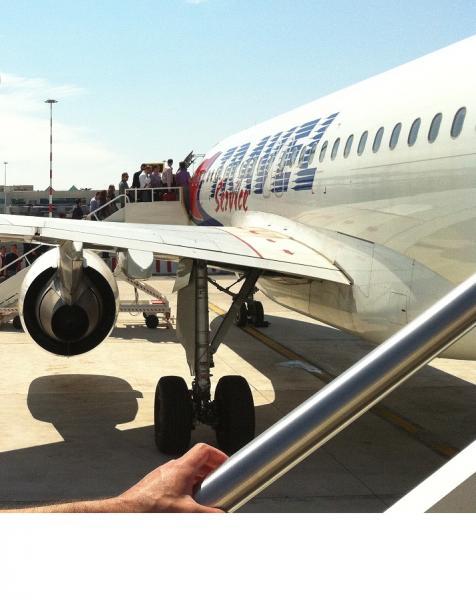 Посадка в самолета АК Travel Service Airlines