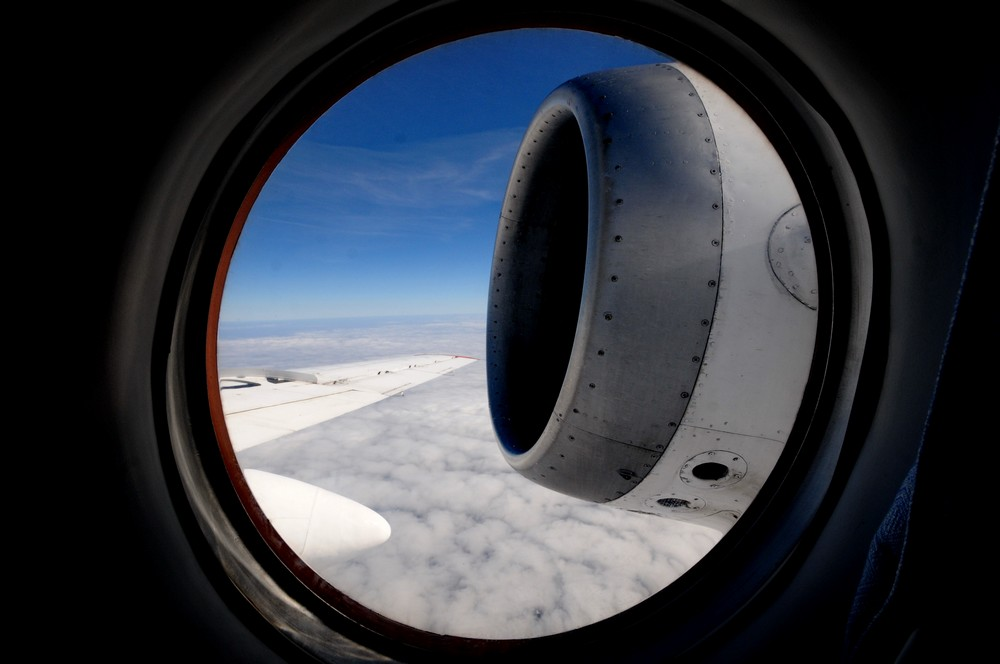 В полете на самолете Ту-134