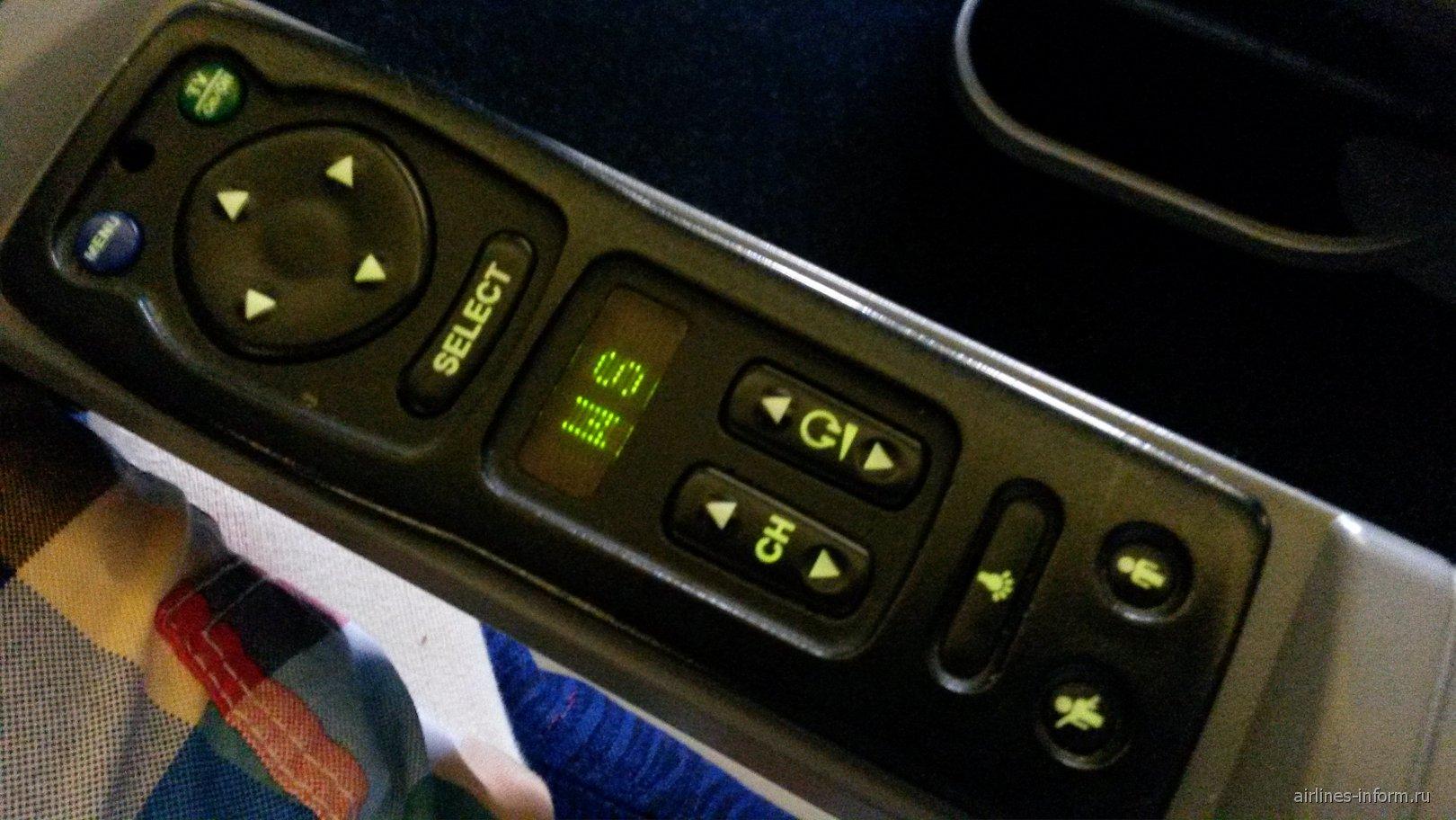 Система развлечений в самолете Боинг-747-400 Британских авиалиний