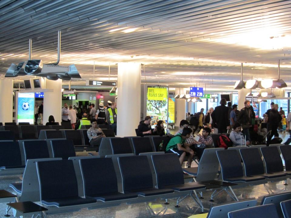 Посадка на рейс Франкфурт-Нью-Йорк авиакомпании Люфтганза