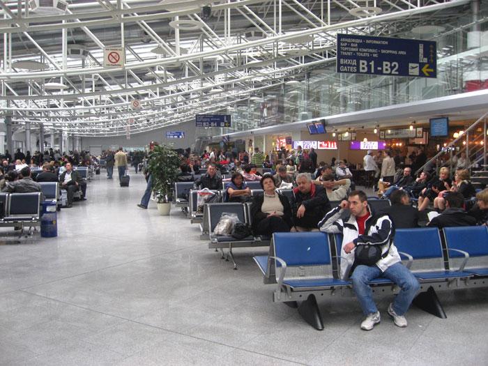 Зал ожидания в аэропорту Борисполь