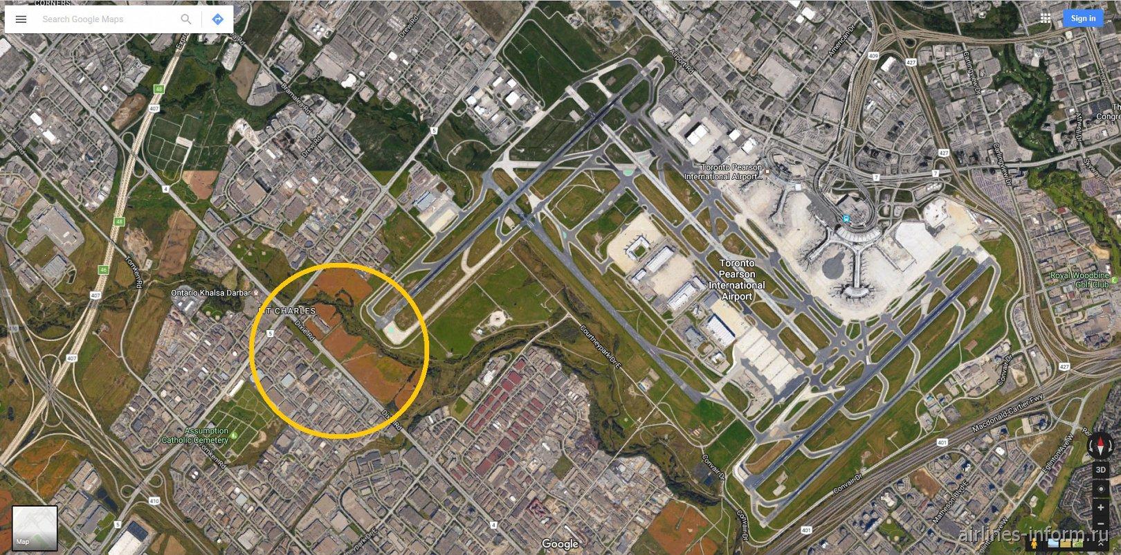 Карта аэропорта Торонто Пирсон