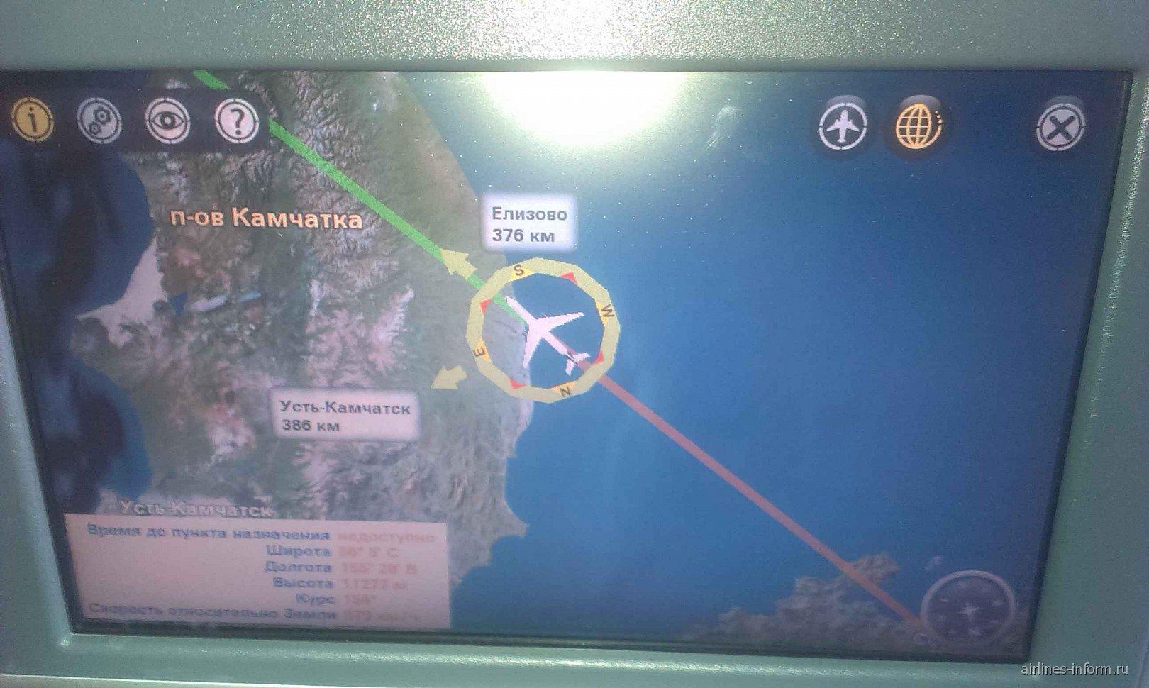 Система развлечений в Боинге-777-300 Аэрофлота