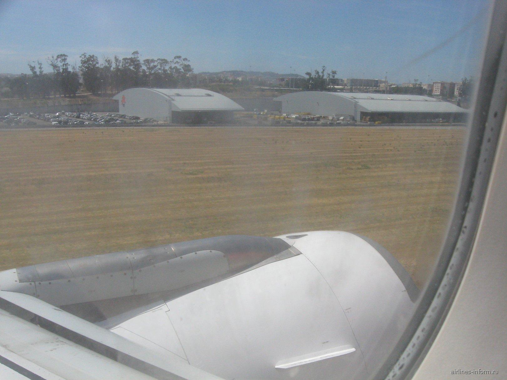 Вид из иллюминатора перед посадкой