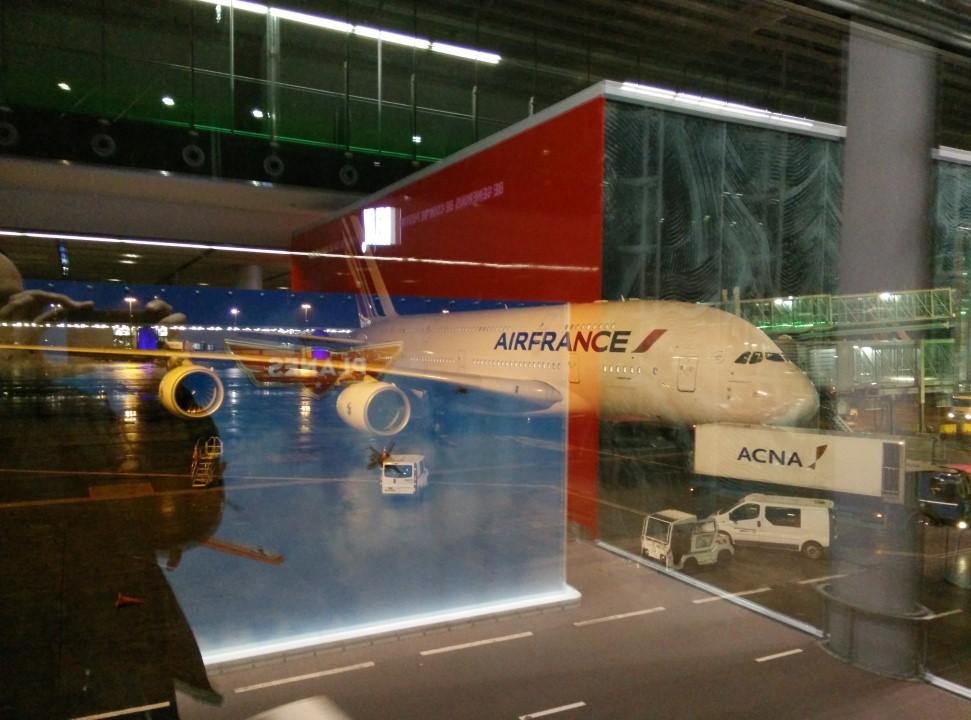 Airbus A380 Air France в аэропорту Париж Шарль-де-Голль