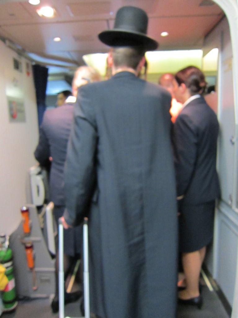 Посадка на рейс Нью-Йорк-Франкфурт авиакомпании Люфтганза