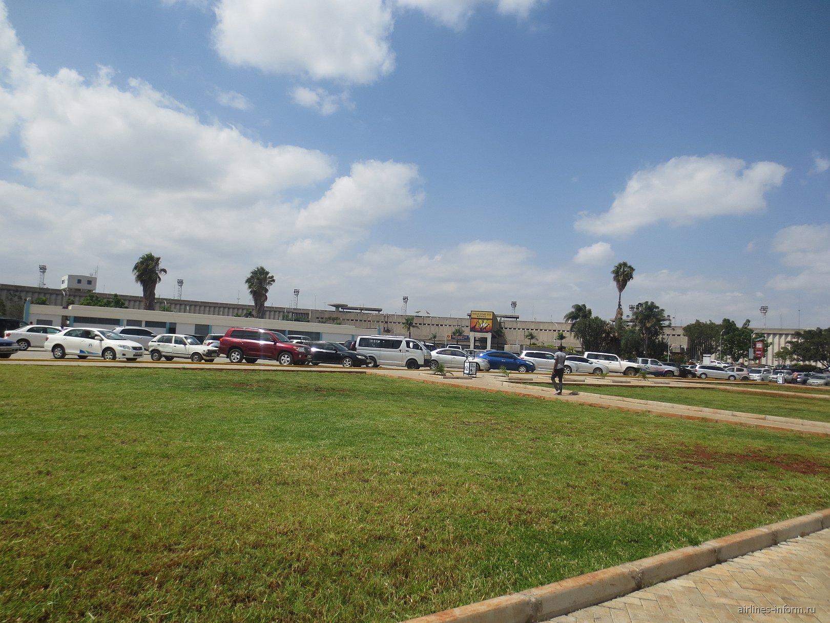Привокзальная площадь аэропорта Найроби Джомо Кеньятта