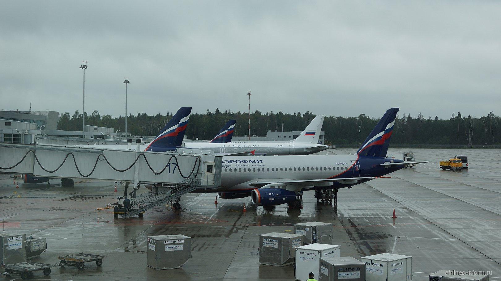 Самолеты Аэрофлота у терминала D аэропорта Шереметьево
