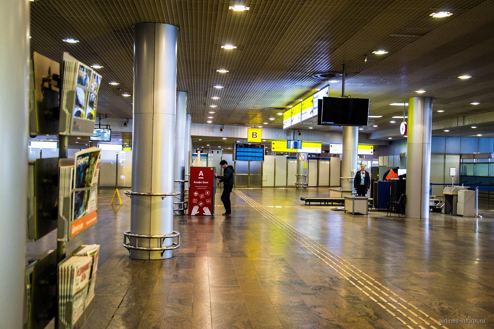 Зал прилета в терминале F аэропорта Москва Шереметьево