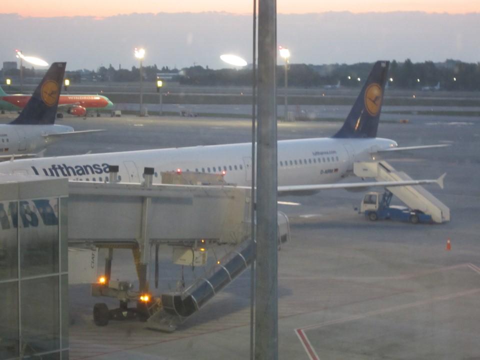 Посадка на рейс Киев-Франкфурт авиакомпании Люфтганза