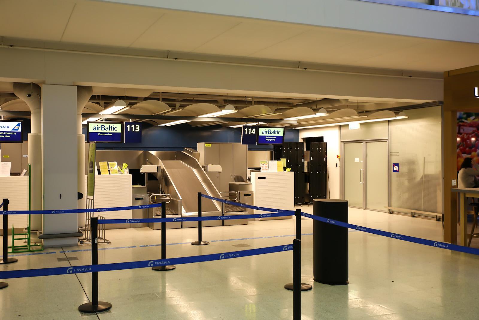 Стойки регистрации в Терминале 1 аэропорта Хельсинки Вантаа