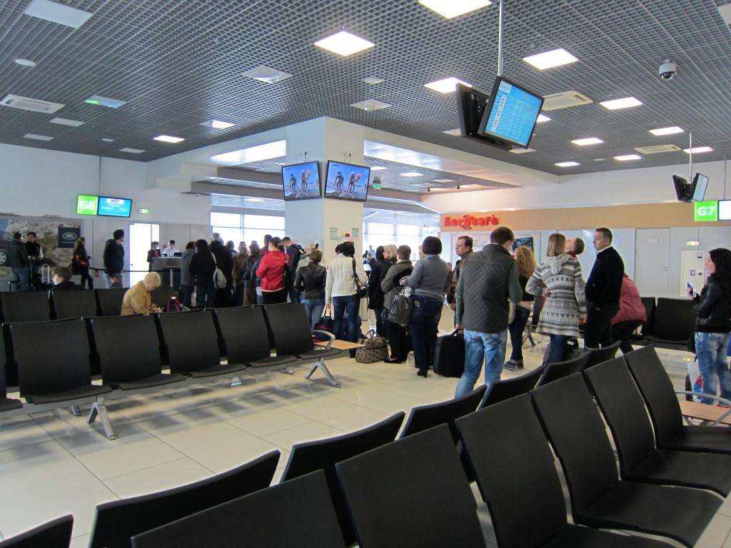 Выход на посадку в терминале А аэропорта Киев Жуляны