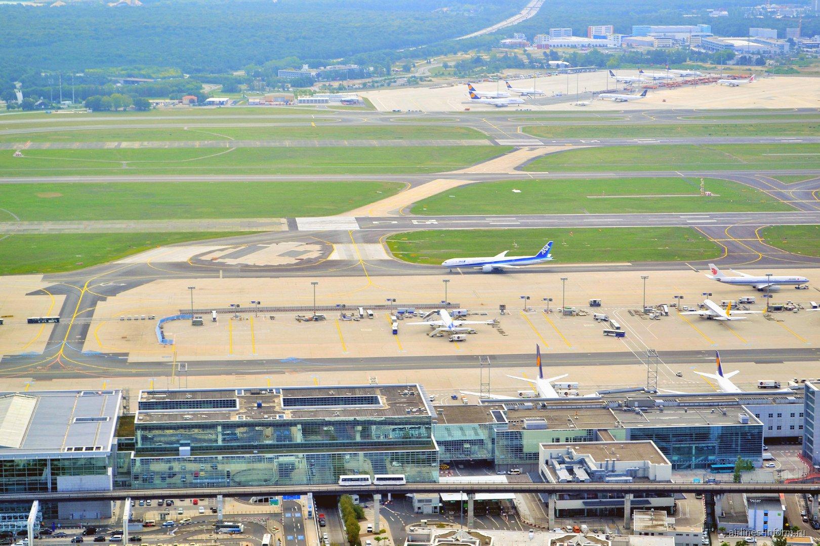 В полете над аэропортом Франкфурт