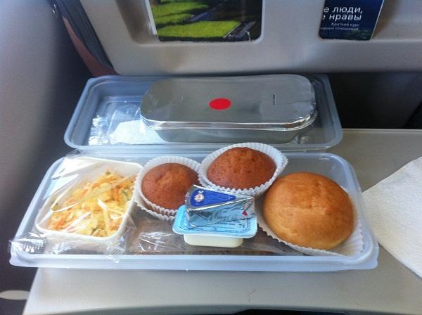 Питание на рейсе Корфу-Москва авиакомпании Татарстан