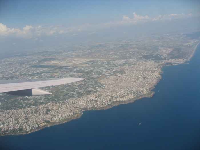 Flying over Antalya