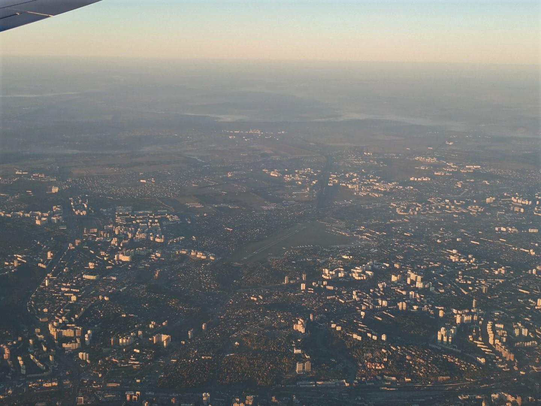 Вид сверху на аэропорт Киев Жуляны