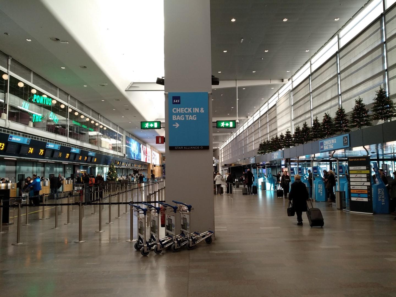 Зона регистрации на рейсы SAS в терминале 5 аэропорта Стокгольм Арланда
