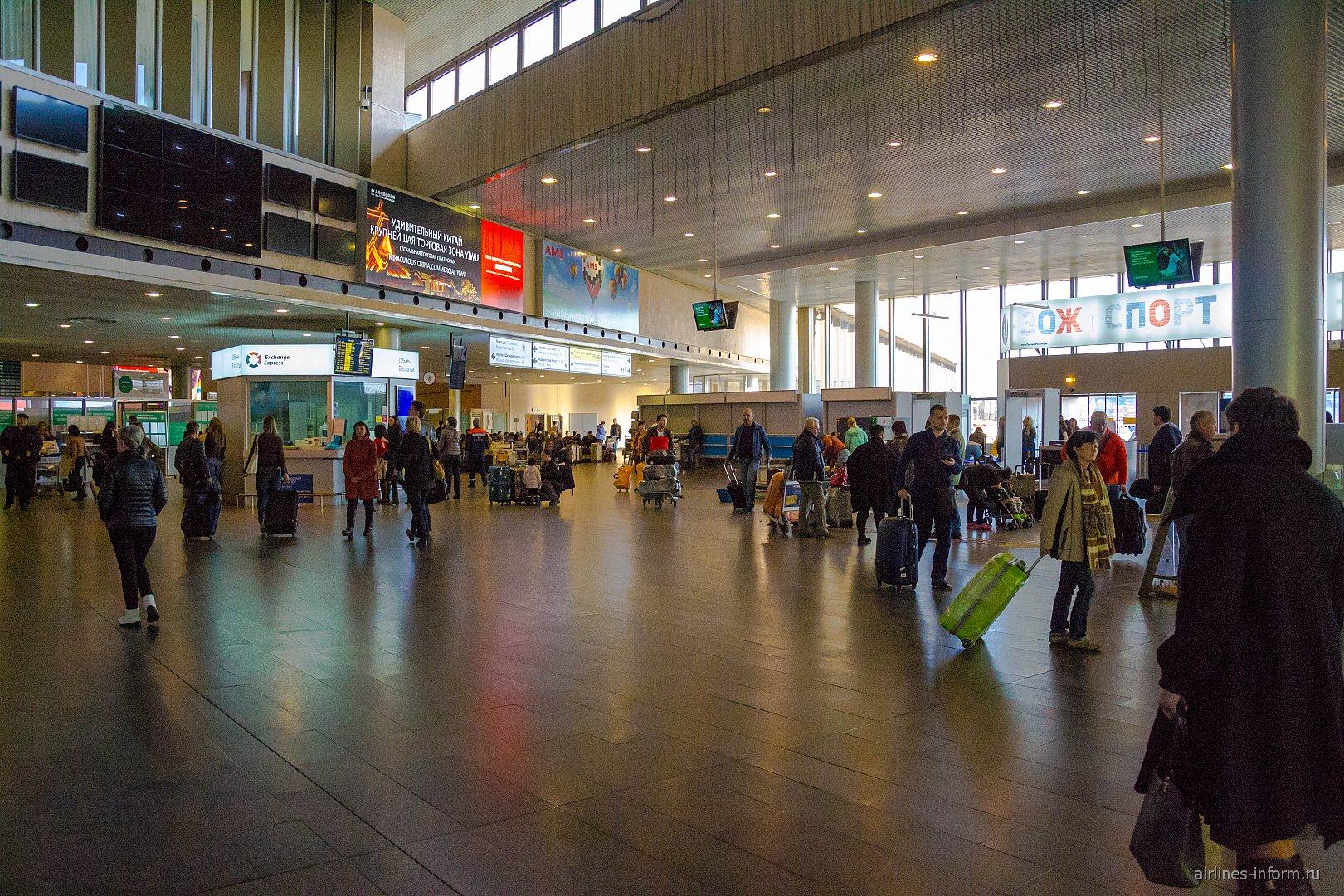 В терминале F аэропорта Москва Шереметьево