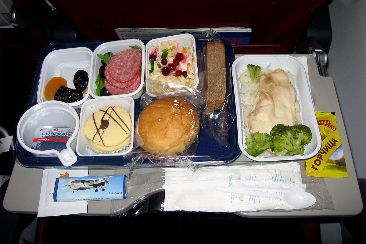 Питание на рейсе Москва-Красноярск авиакомпании ЮТэйр