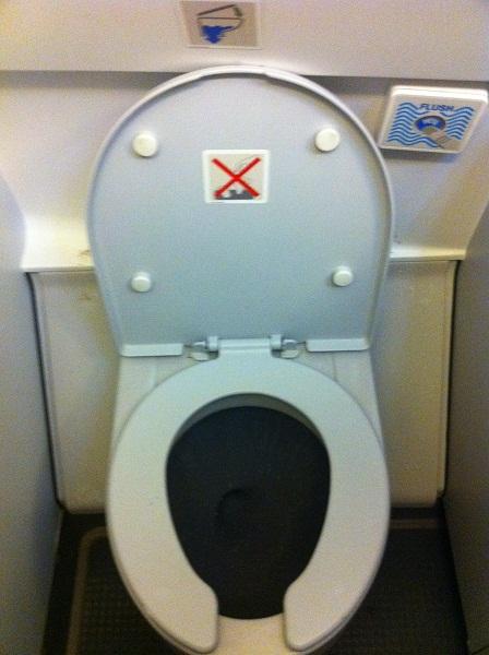 Туалет самолета Airbus A319 авиакомпании Татарстан