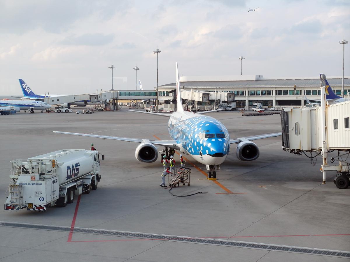 В аэропорту Наха на острове Окинава
