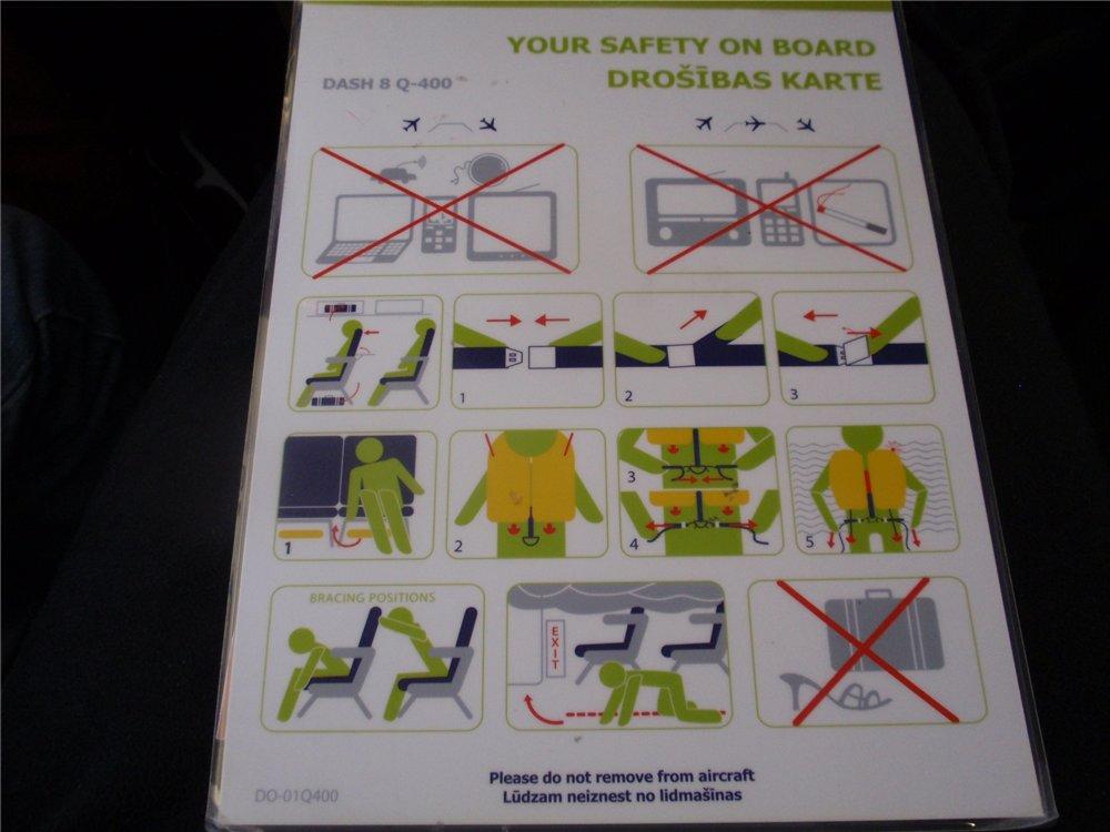Инструкция по безопасности авиакомпании airBaltic