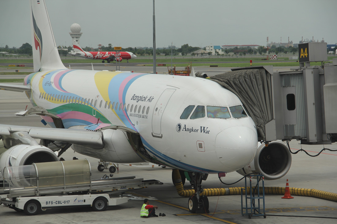 Самолет Airbus A319 авиакомпании Bangkok Airways в аэропорту Бангкока