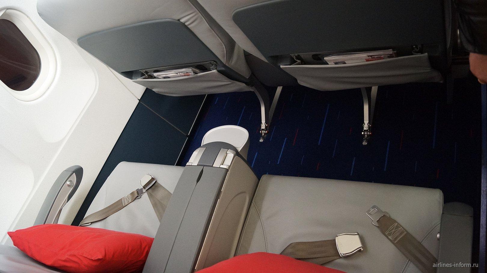 Бизнес-класс в самолете Airbus A320 авиакомпании Air Serbia