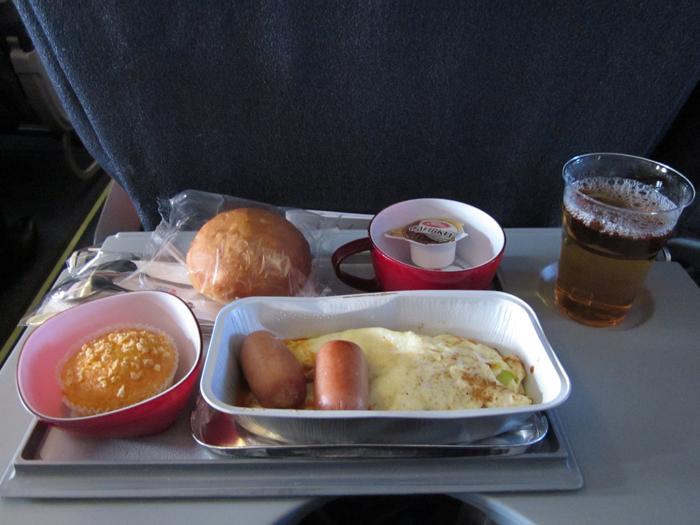 Питание на рейсе Москва-Прага Чешских авиалиний