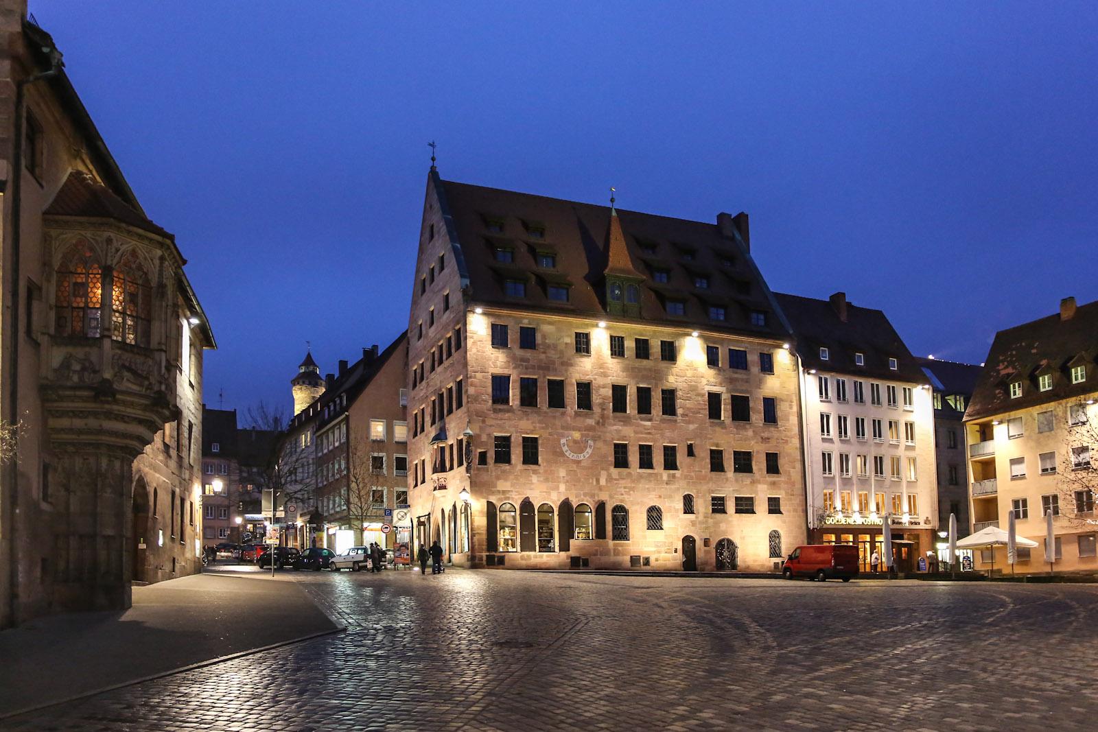 В центре города Нюрнберг