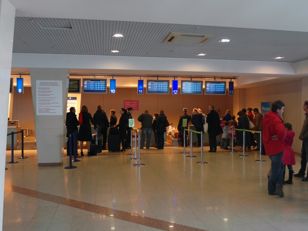 Стойки регистрации в аэропорту Уфа