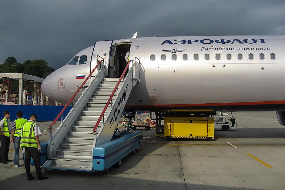 Посадка на рейс Аэрофлота Сочи-Москва