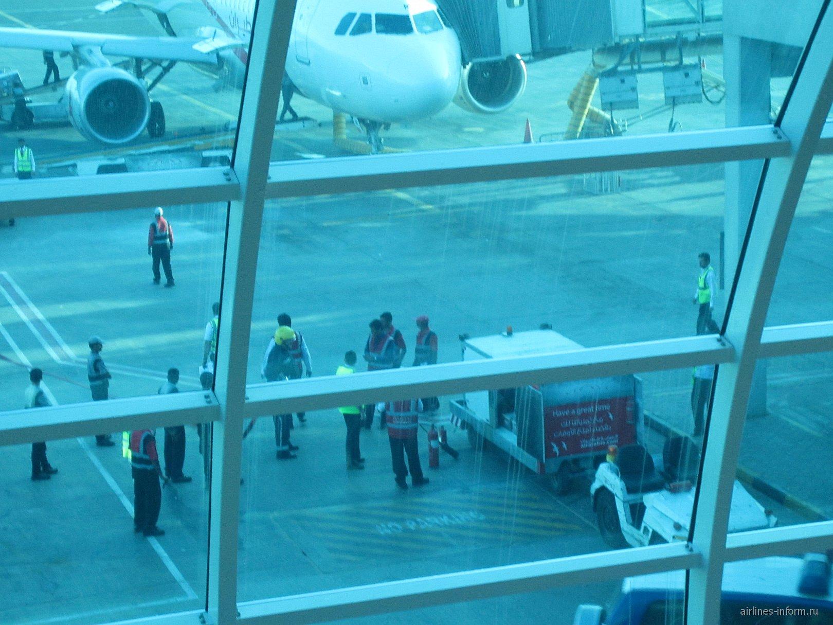 Подготовка к рейсу Шарджа-Екатеринбург