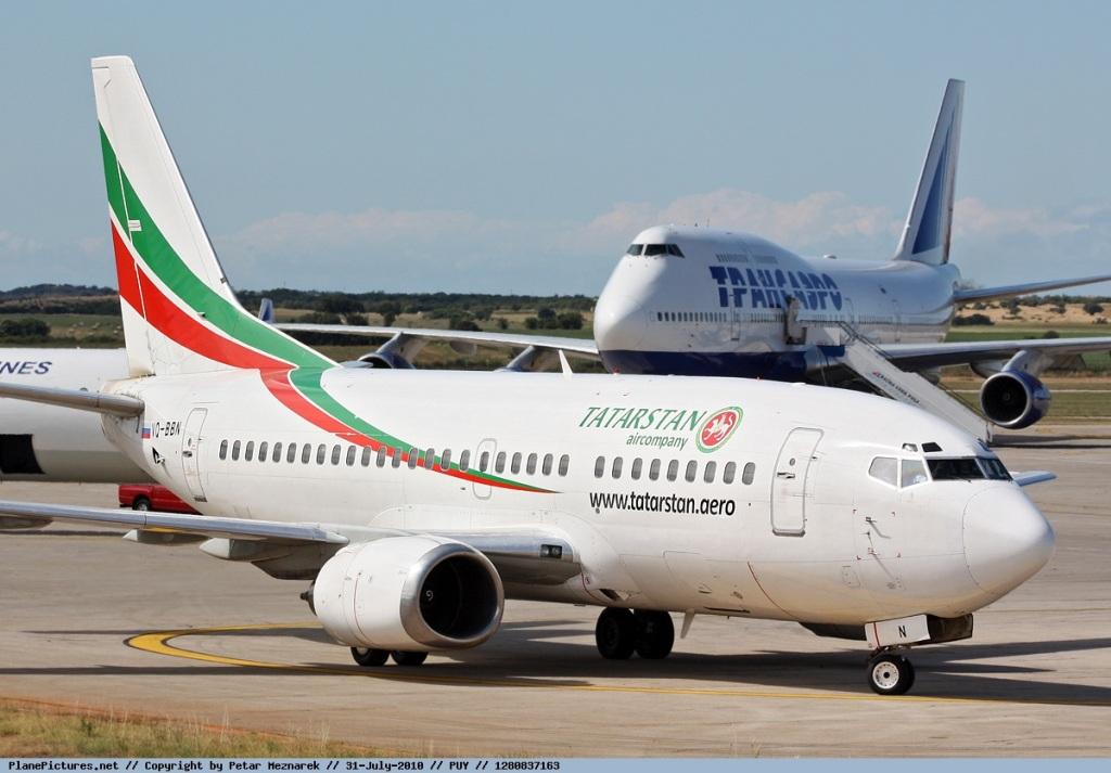 Самолет Боинг-737-500 авиакомпании Татарстан