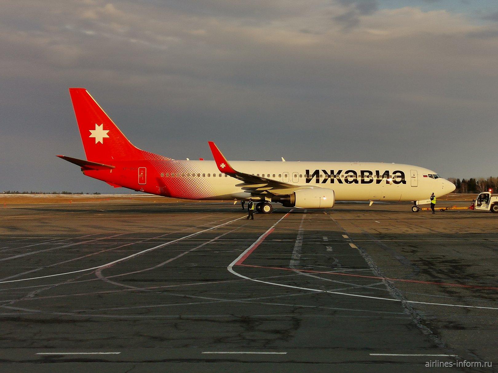 """Авиалайнер Боинг-737-800 авиакомпании """"Ижавиа"""""""