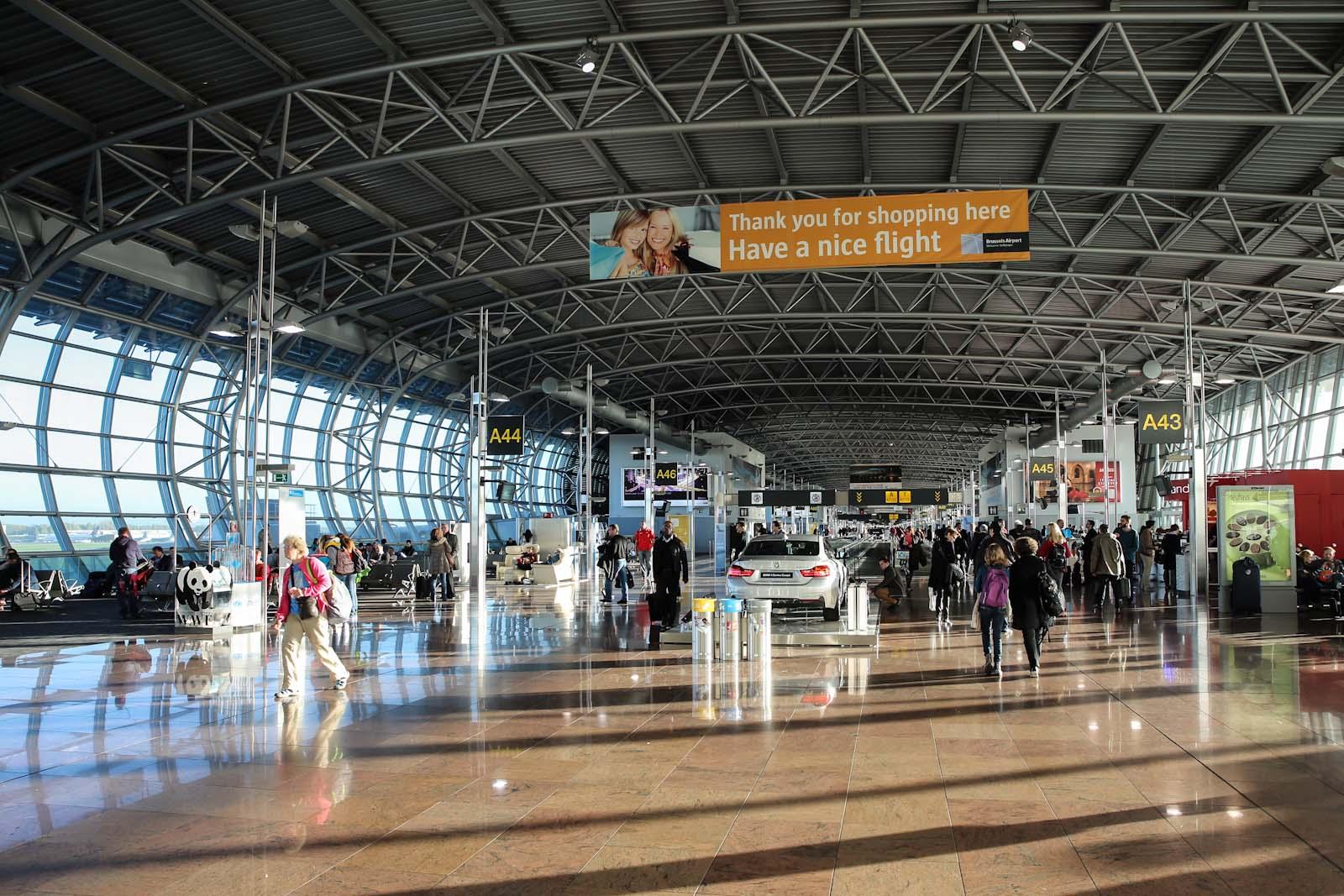 В зоне вылета пирса А аэропорту Брюссель